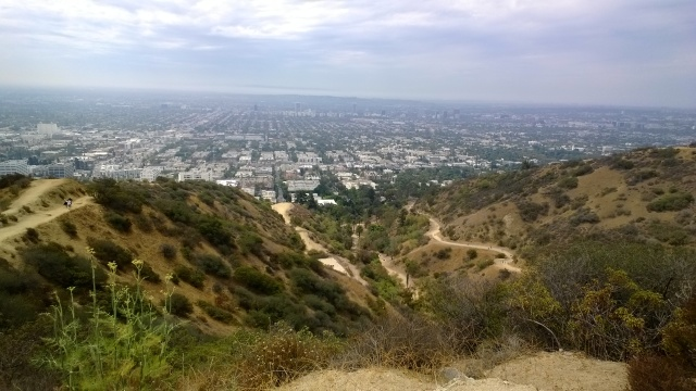 Runyon in the ungodly hot hours of the afternoon.